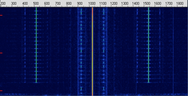 spectrogram of alignment signal