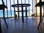 Pigeons on webmaster's balcony  - Prince Kuhio Hotel, Honolulu, Hawaii