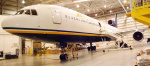 ATA L-1011 Aircraft N164AT in Indianapolis Maintenance Hangar