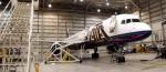 ATA 757 Aircraft N514AT in Indianapolis Maintenance Hangar
