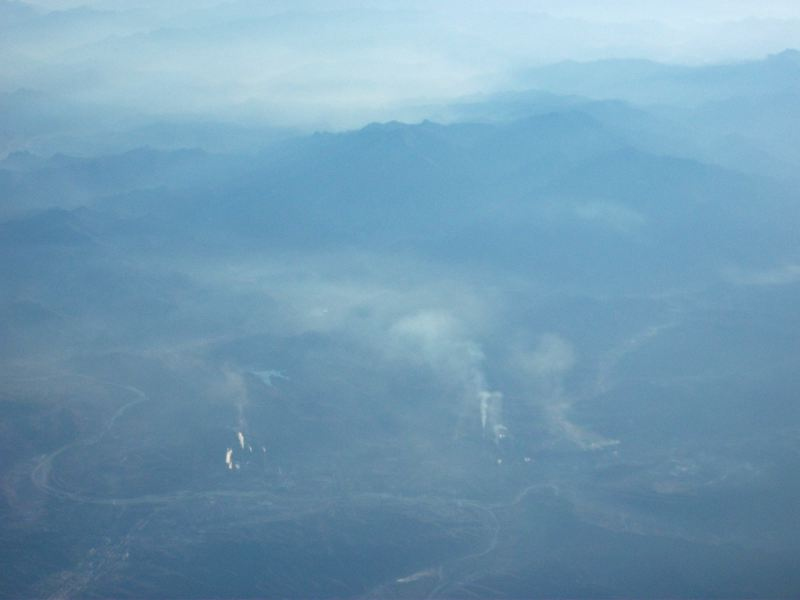 Smokestacks and smog in northeastern China.  November 10, 2011