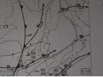 Fukushima radiation alert on aero weather chart