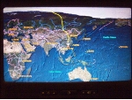 Flight progress display Newark to Hong Kong