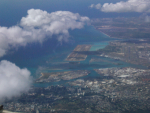 Honolulu International Airport from aboard ATA Boeing 757