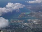 Honolulu International Airport <br>from aboard ATA Boeing 757