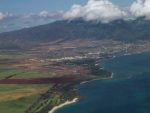 Kahului, Hawaii from aboard ATA Boeing 757