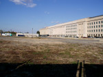 On Layover, walking by  the Pentagon, near KDCA, before completion of  the 9/11 memorial