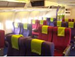 Viva Macau Boeing 767 business class cabin