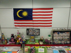 Shrine to MH17 and MH370 dead